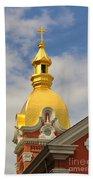 Architecture - Golden Cross Beach Towel