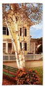 Architecture - Woodstock Vt - Where I Live Beach Towel by Mike Savad