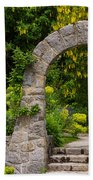 Archway To The Secret Garden Beach Towel