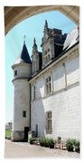 Archway View Chateau Amboise Beach Towel