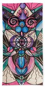 Arcturian Healing Lattice  Beach Towel