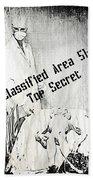 Area 51 Declassified Beach Towel