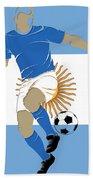 Argentina Soccer Player2 Beach Towel