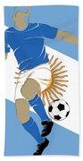 Argentina Soccer Player3 Beach Towel