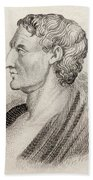 Aristotle From Crabbes Historical Dictionary Beach Towel