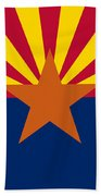 Arizona State Flag Authentic Color And Scale Version Beach Towel