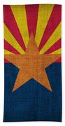 Arizona State Flag Beach Towel by Pixel Chimp