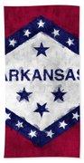 Arkansas Flag Beach Towel