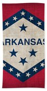Arkansas State Flag Beach Towel