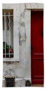 Arles House With Red Door Dsc01806  Beach Towel