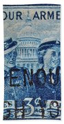 Armed Services Women Stamp Beach Towel