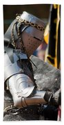Armored Joust Knight Beach Towel