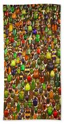 Army Of Beetles And Bugs Beach Towel