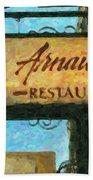Arnauds New Orleans_oil Digital Art Beach Towel