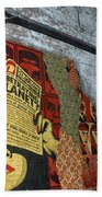 Arnolds And Graffiti Andre The Giant Has A Posse Beach Towel
