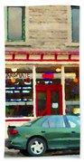 Aromate Resto Cafe Rue St Jacques St Henri  Montreal Urban Food City Scenes Carole Spandau Beach Towel