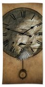 Around The Clock-time Is Flying Beach Towel