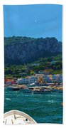Arrival To Capri Beach Towel