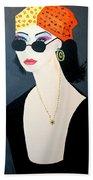 Art Deco  Hippy Girl Beach Towel