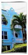 Art Deco Hotel In Miami Beach Beach Towel