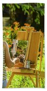 Art In The Garden Beach Towel