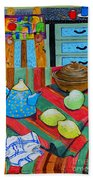 Art In The Kitchen Beach Towel