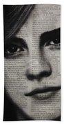 Art In The News 17-emma Watson Beach Towel