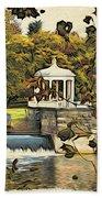 Art Museum Gazebo Beach Towel