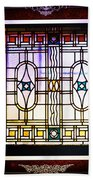 Art-nouveau Stained Glass Window Beach Towel