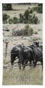 Art Of Horse Plowing Beach Towel