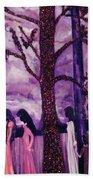Art Purple Rain Beach Towel