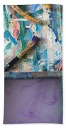 Art Table With Water And Brush Beach Towel