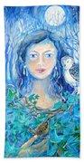 Artemis And The Wren- Beach Towel