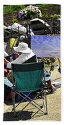 Artist At Work In Seaview - Isle Of Wight Beach Towel