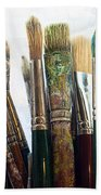 Artist Paintbrushes Beach Towel