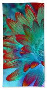 Artistic Flowers Beach Towel