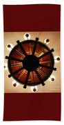 Arts And Crafts Chandelier At Summit Inn Beach Towel