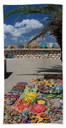 Artwork At Street Market In Curacao Beach Towel