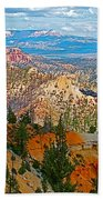 As Far As The Eye Can See From Farview Point In Bryce Canyon-utah   Beach Towel