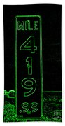 As Pure As It Gets In Green Neon Beach Towel