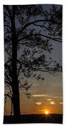 As The Sun Fades Behind The Mountian Beach Sheet