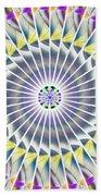 Ascending Eye Of Spirit Kaleidoscope Beach Towel by Derek Gedney