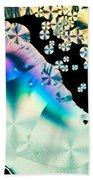 Ascorbic Acid Crystals In Polarized Light Beach Towel