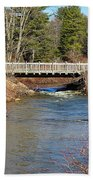 Ash Brook And Bridge Beach Towel