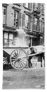 Ash Cart New York City 1896 Beach Towel by Unknown
