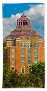 Asheville City Hall Beach Towel by John Haldane