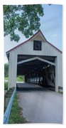 Ashtabula Collection - Mechanicsville Road Covered Bridge 7k0207 Beach Towel
