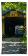 Ashtabula Collection - Olin's Covered Bridge 7k01978 Beach Towel