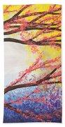 Asian Bloom Triptych 3 Beach Towel