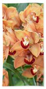 Asian Corsage Orchid Beach Towel
